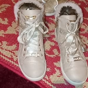 Michael Kors Girls High Top Ankle Shoe